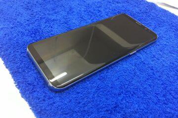 姫路市のお客様、Galaxy s8の両面ガラスコーティング